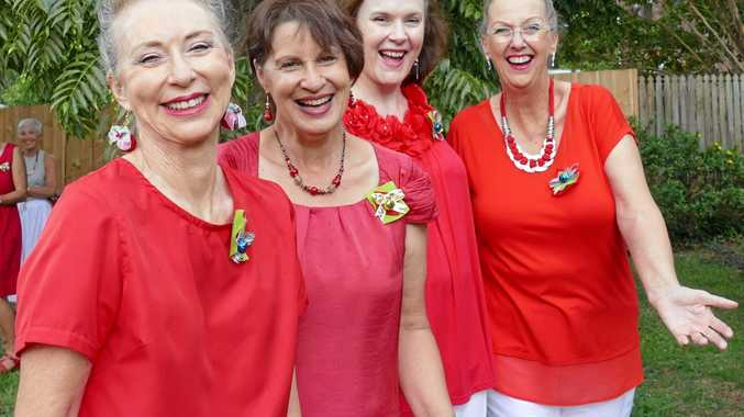 ON SONG: Hot Ginger members Paula Dawson, Narelle Greentree, Vanessa Smith and Jenny Johnson.