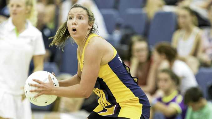 IN ACTION: Kelsey Browne trains for Sunshine Coast Lightning in front of fans at Caloundra.