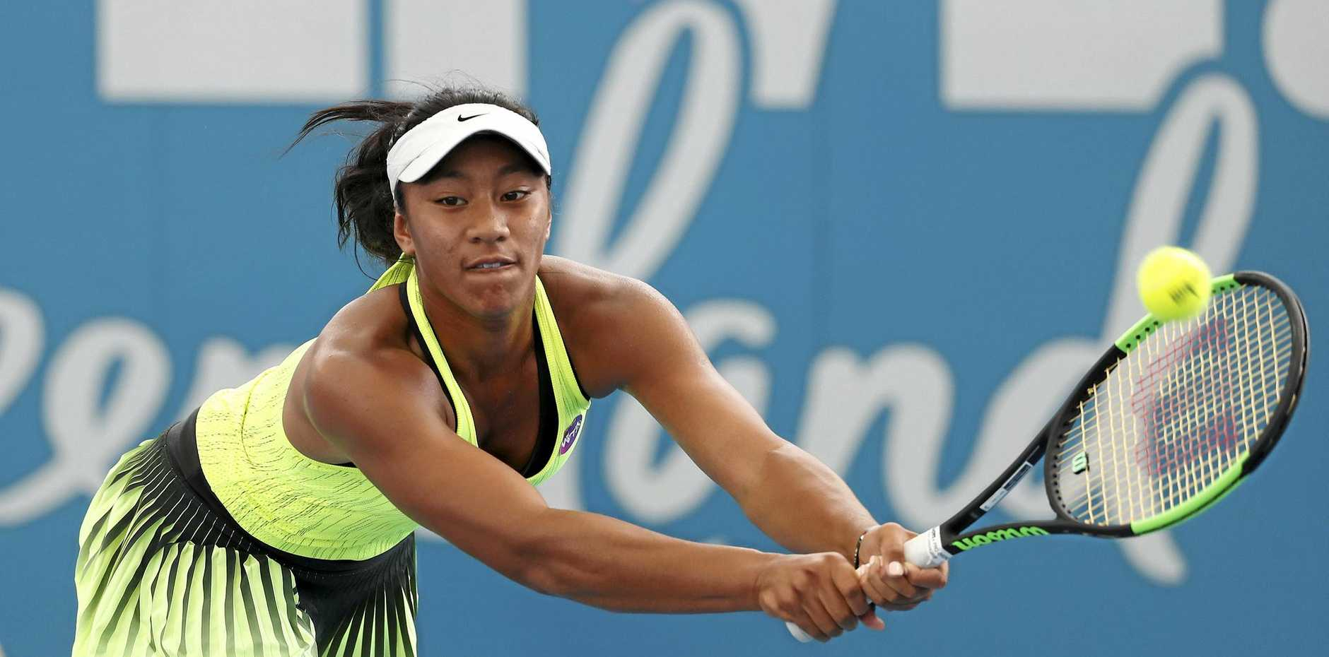 NERVES: Destanee Aiava is out of the Kooyong Classic after a first round loss.