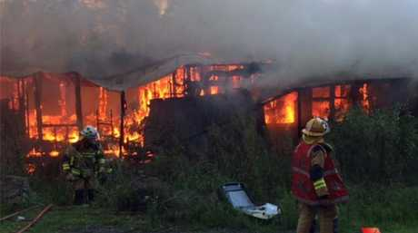 A Highfields man has been charged with arson after a residence was destroyed by fire at Mt Kynoch on Monday afternoon.