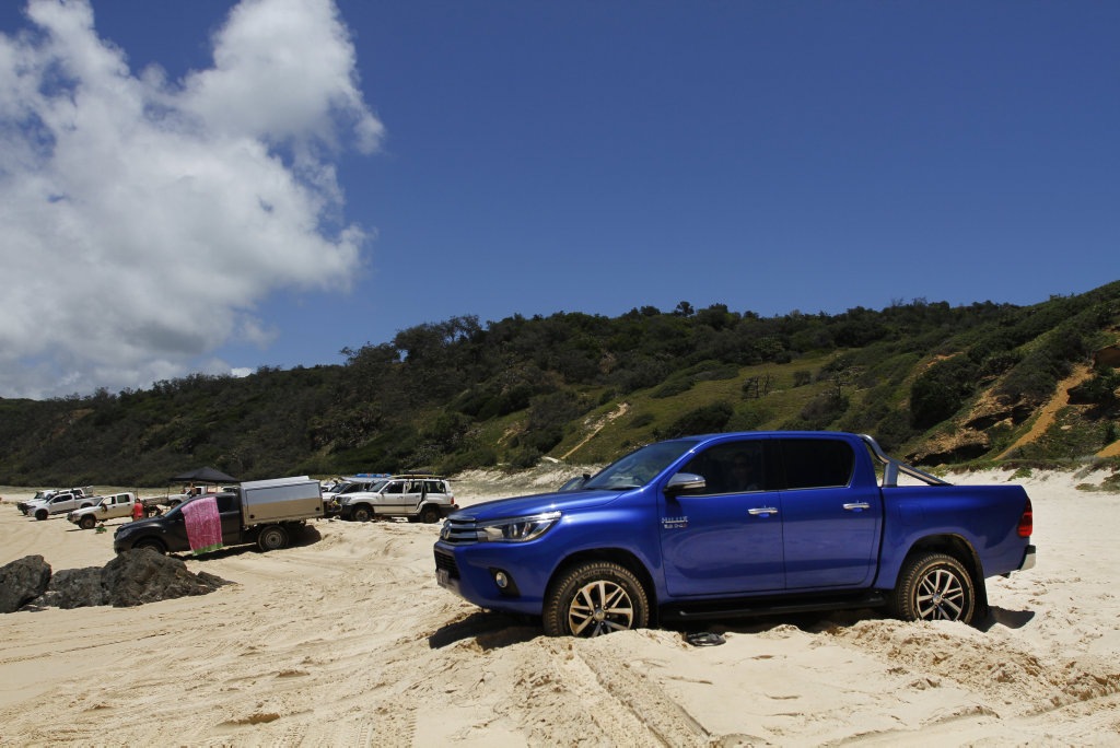 2016 Toyota HiLux Double Cab 4x4 SR5 at Double Island Point, Qld.
