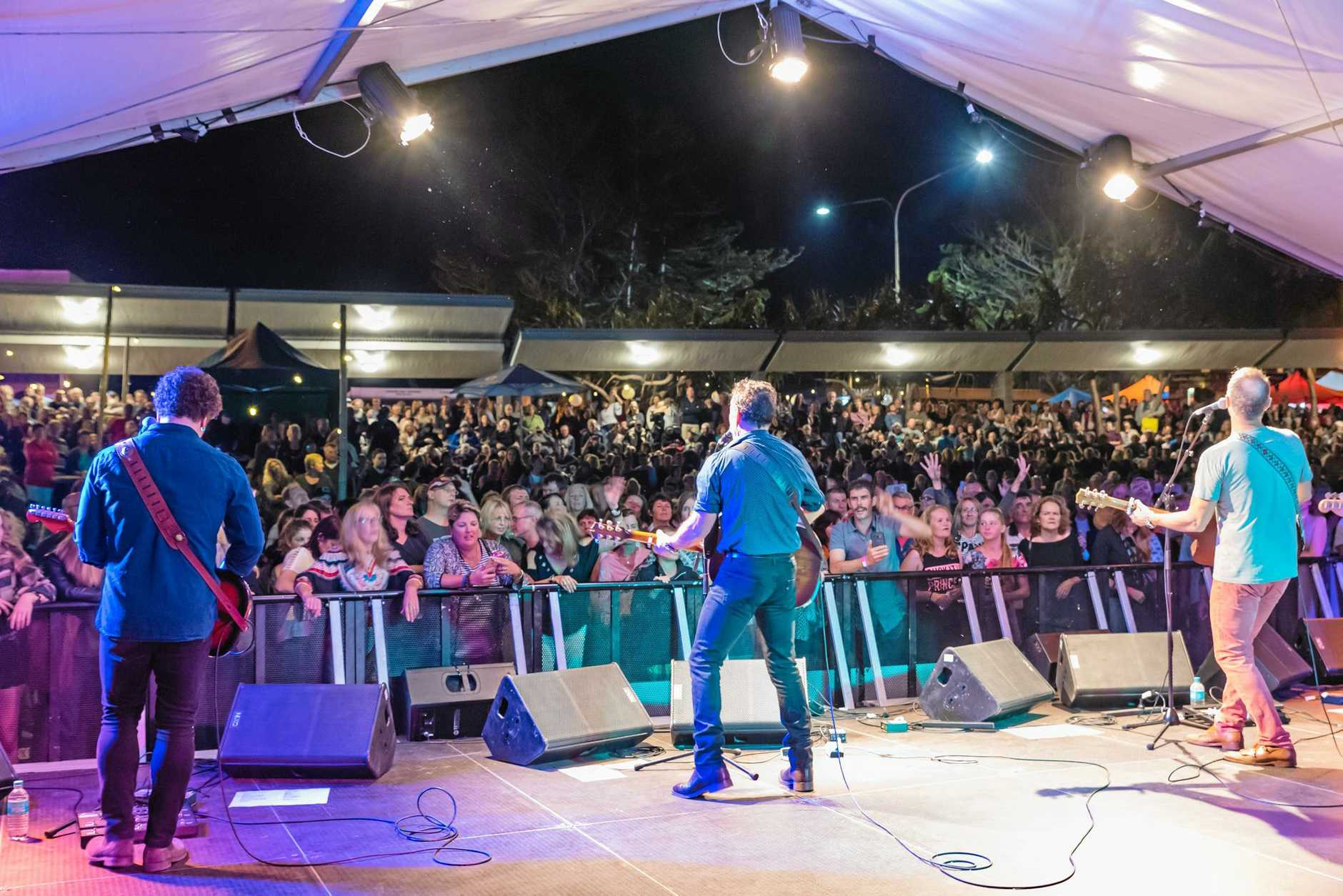 The Village Festival in August featured Aussie music icons Mark Seymour and James Reyne.