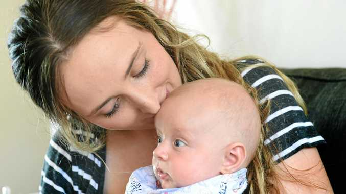 Lismore woman Grace Trevillien with Darcy, 3 months, chose to be a young mum.