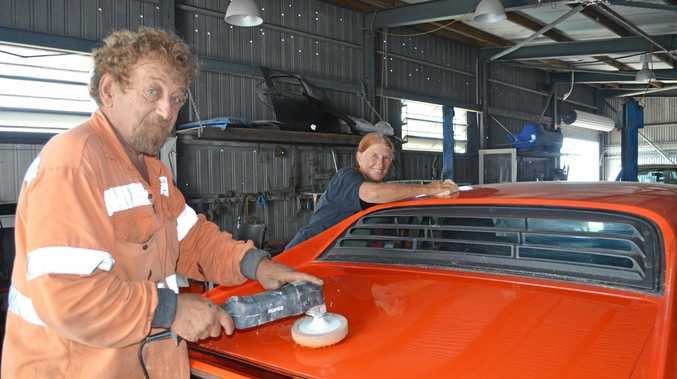 NEW VENTURE: Sonnie and Julie Gauci have opened their business Blues Smash Repairs in East Mackay.