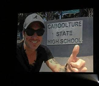 OUR STAR: Country music superstar Keith Urban stopped by his old high school in Caboolture in December.