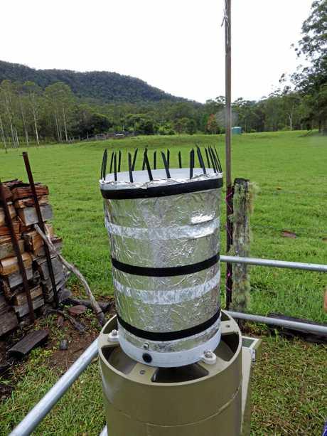 The automatic rain gauge.