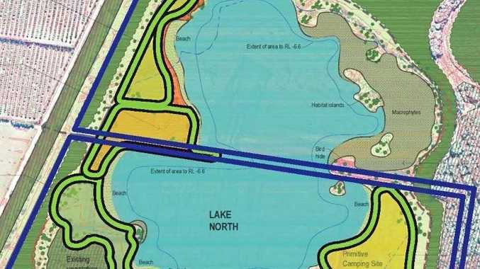 A controversial sand mine project at Lennox Head could eventually become a lake to rival Lake Ainsworth.