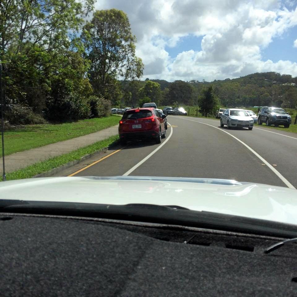 Jacqui Pax's photo of an illegal parker near a church on the Sunshine Coast.