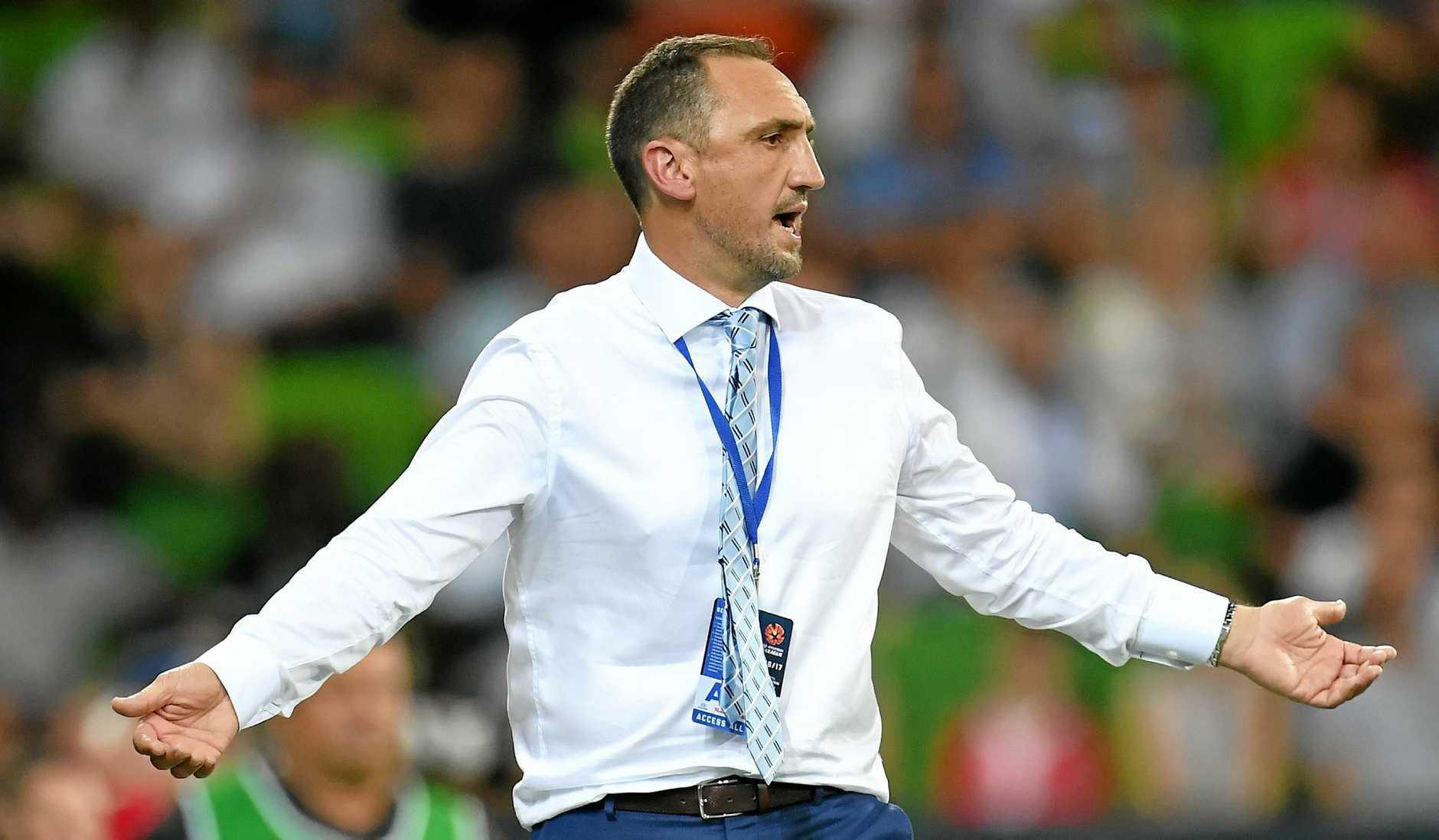 Melbourne City coach Michael Valkanis.