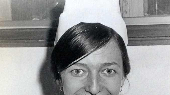 Toowooma's Sandra Handley in her nurse's uniform in 1970.