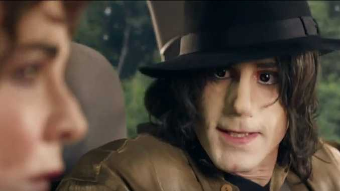 Joseph Fiennes as Michael Jackson in a scene from Sky Arts' TV movie Urban Myths.