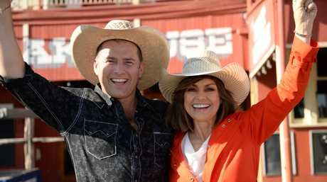 Today show hosts Karl Stefanovic and Lisa Wilkinson in Rockhampton earlier this year.
