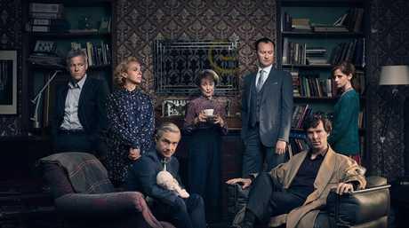 The cast of the TV series Sherlock season 4.