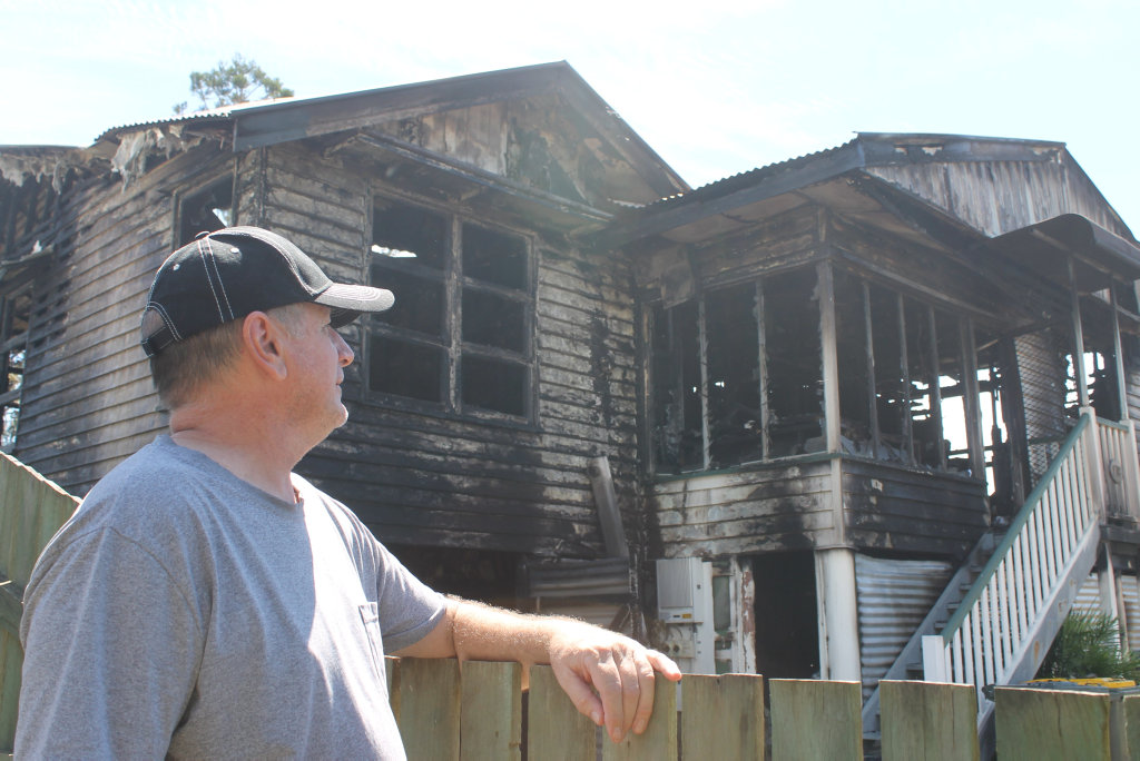 Gary Booth lives next door to the house that caught fire in Granville on January 12. He said the frightening experience was surreal.