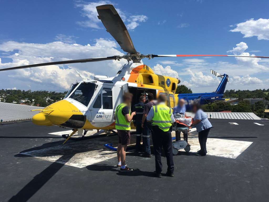 AIRLIFTED: A Tara man has been airlifted to Toowoomba Hospital after he was attacked by a bull.