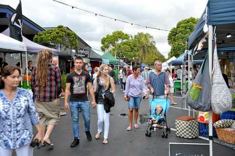 'Nights on Ocean' markets in Maroochydore.   Photo: Warren Lynam / Sunshine Coast Daily