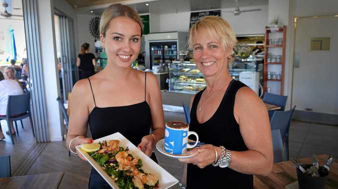 HAPPY BIRTHDAY: Dani Le Marseny (right) and daughter Kelly are celebrating the 10th birthday of their family cafe, One on La Balsa.