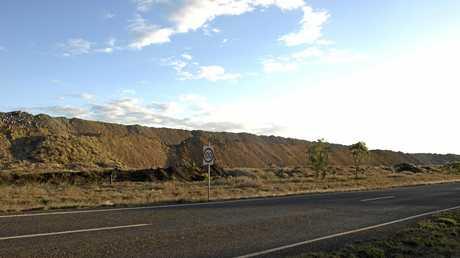 BIG IMPACT: The side of the Burton Mine.