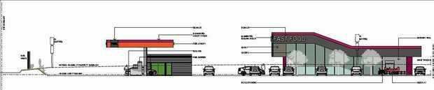 The proposed Cooroy service station and fast food outlet.
