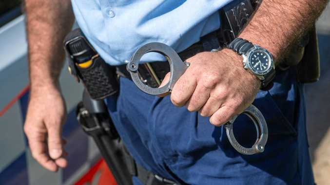 NSW police generic Handcuffs arrest. 07 October 2016