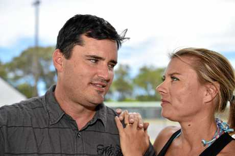 Fraser Coast councillor Stuart Taylor and wife Dana Taylor. The Taylors received a letter accusing Stuart of having an affair with Fraser Coast CEO Lisa Desmond.