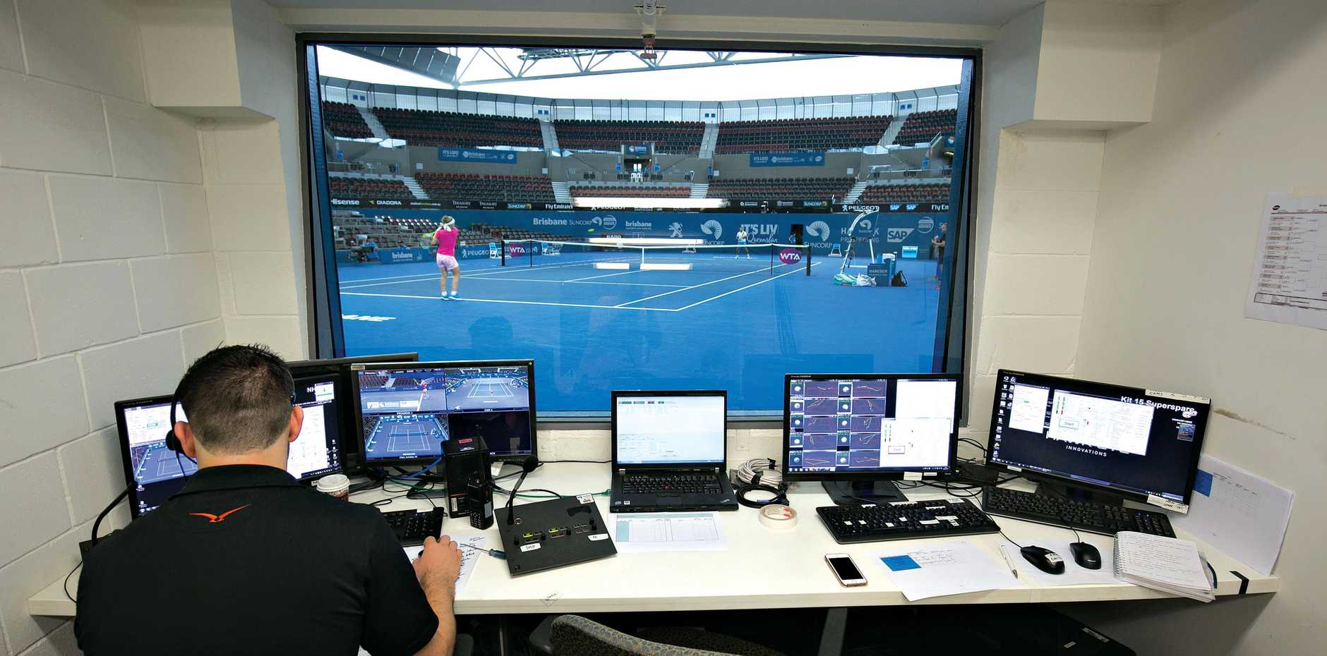 The technical aspects of the game are well looked after by staff in the Hawke-Eye room.