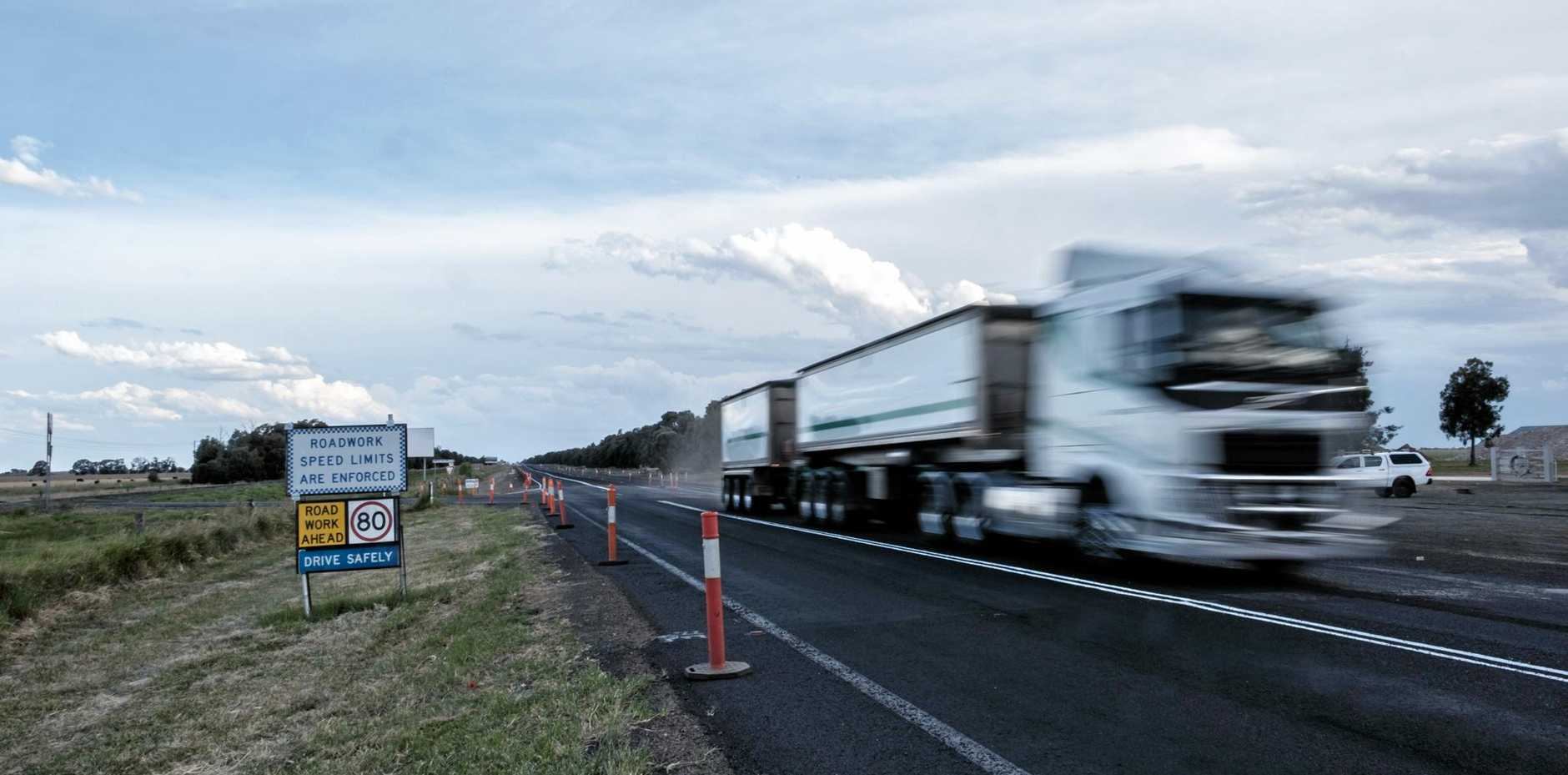Warrego Highway upgrades along the eastern approach to Chinchilla.