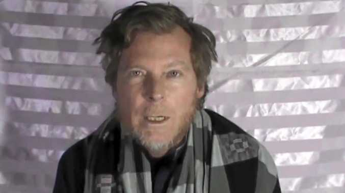 Held by the Taliban in Afghanistan, Australian man Timothy Weekes makes a statement on camera.