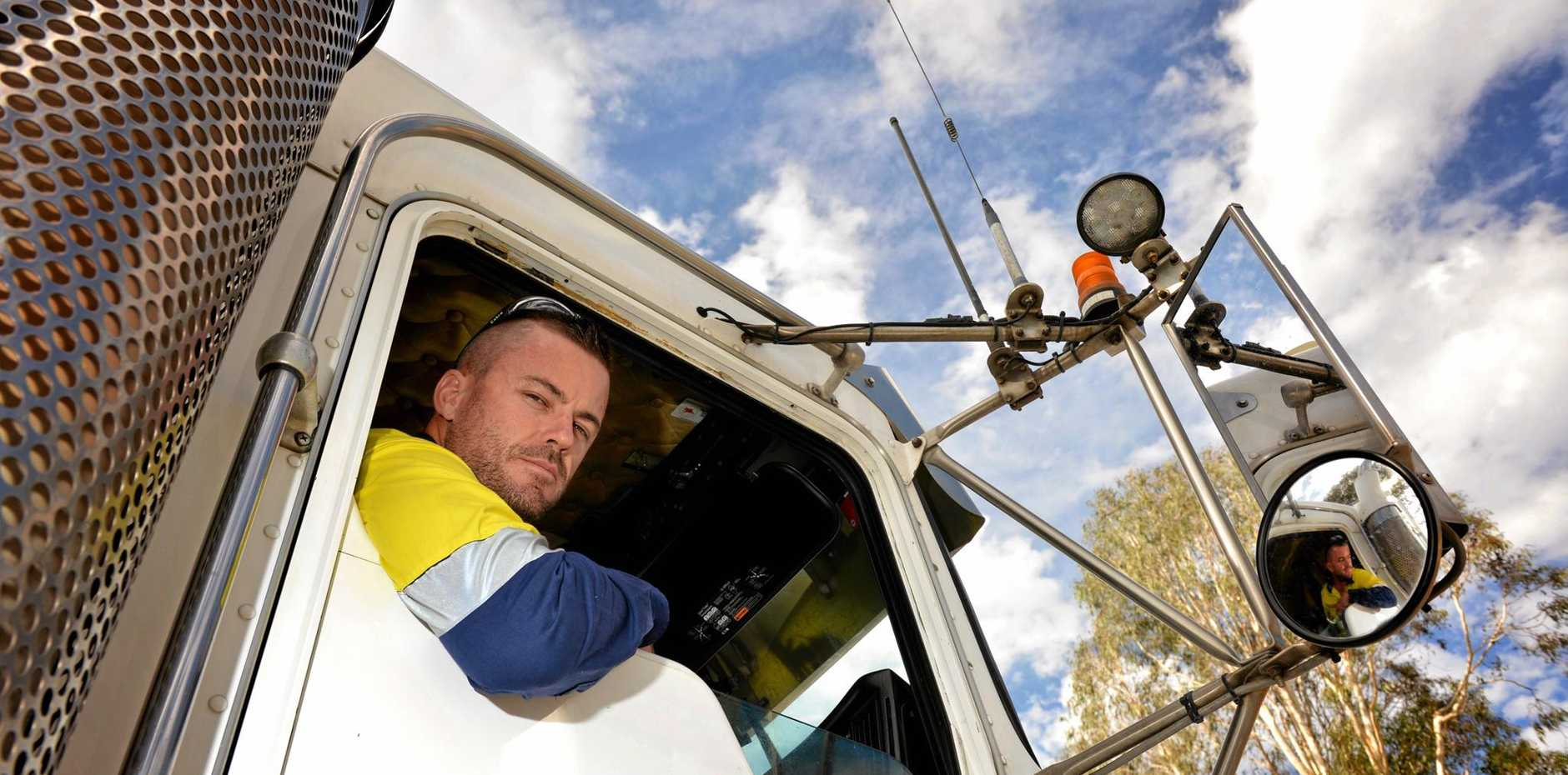 EYES WIDE OPEN: Gympie truck driver Warren Dyke says some car drivers are a highway horror story.