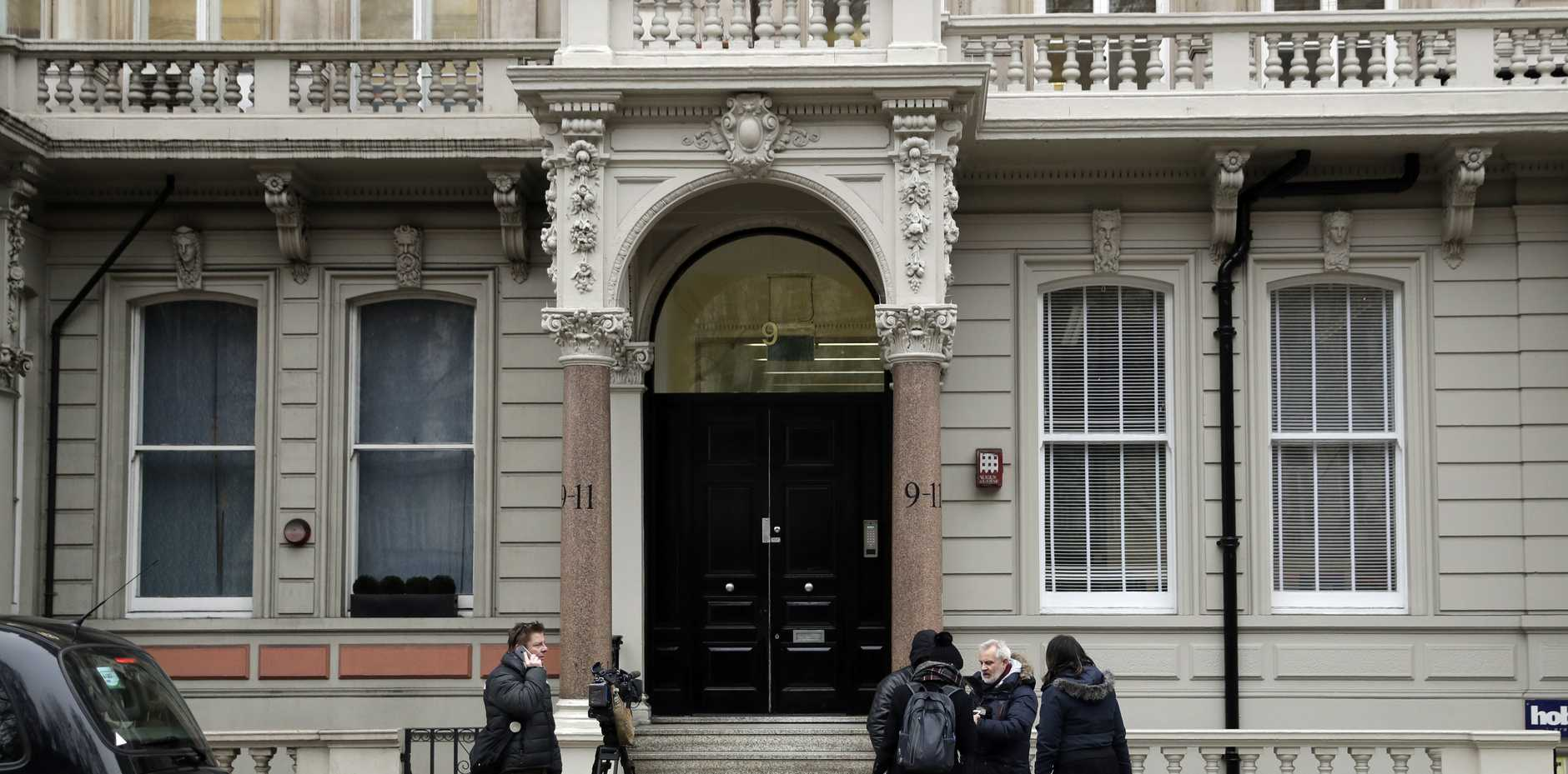A view of the building where offices of Orbis Business Intelligence Ltd are located, in central London, Thursday Jan. 12, 2017. An unsubstantiated dossier on US President-elect Donald Trump was compiled by a former Western intelligence operative, identified Wednesday by The Wall Street Journal as Christopher Steele of London-based Orbis Business Intelligence.