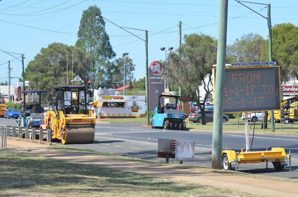 Roadworks started in Kingaroy on January 11