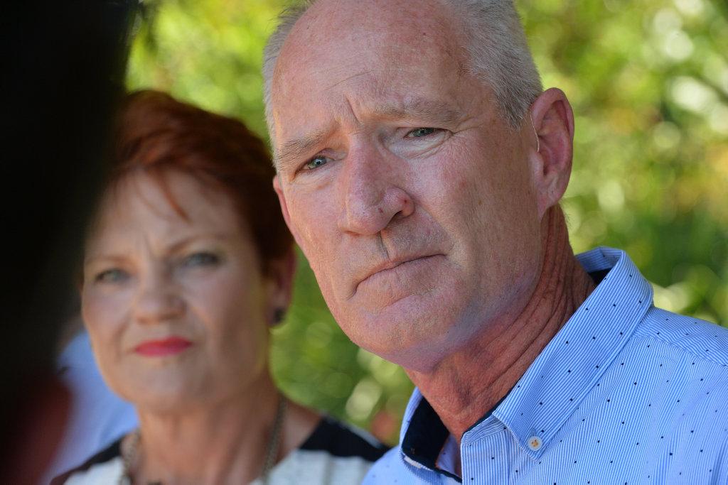 Queensland One Nation leader Steve Dickson with Pauline Hanson