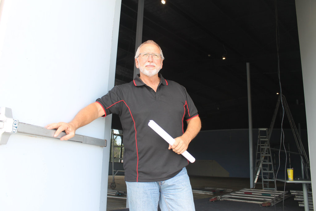 WATCH THIS SPACE: Ed Gibson from the Hervey Bay Boat Club says two, 60 seat cinemas will be open by Easter in Urangan.