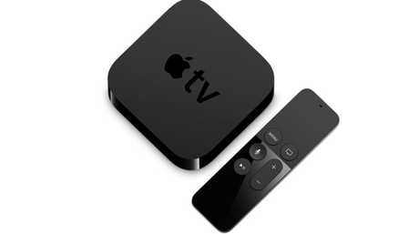 Apple TV features a Siri voice controlled remote.