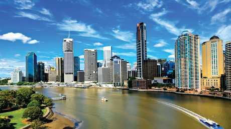 Brisbane city from the Story Bridge.