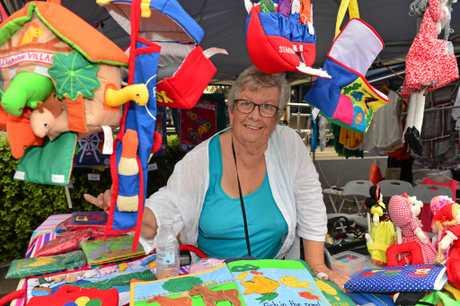 Mary Howell at Caloundra for the Twilight Markets.