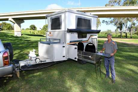 LOCAL DESIGN: Kelly Campers owner Dave Willoughby is happy the company made the finals of Camper Trailer of the year 2017 awards.