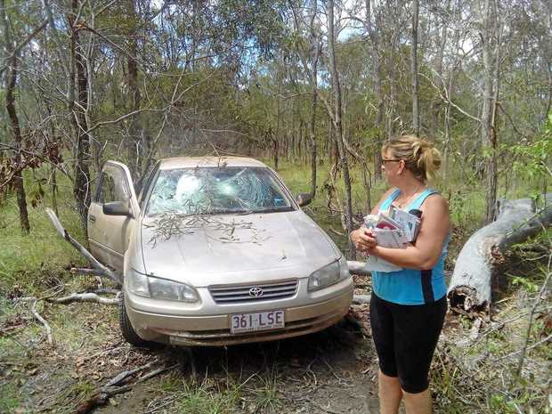 SHOCKING NEWS: Zeta Green was left devastated after her Toyota Camry was stolen and damaged beyond repair.