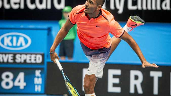 Nick Kyrgios of Australia at the Hopman Cup.