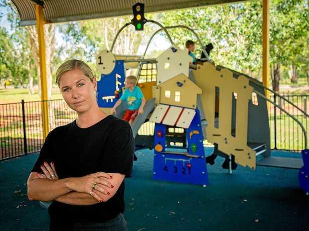 Disappointment over Binda Park vandalism: Councillor Kelly Vea Vea at Binda Park, Moranbah.