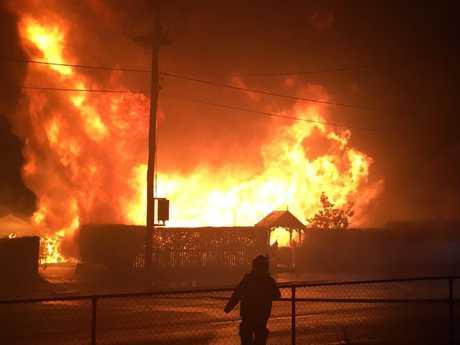 House fire on West St. Photo: 7 News Toowoomba