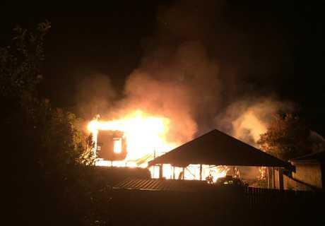 House fire on West St. Photo: Henrietta Lee