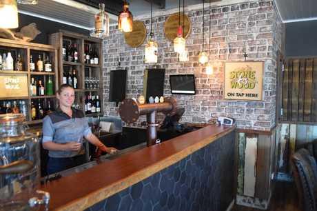 Bar supervisor Jade Shanks checks out the bar at The Malt House.