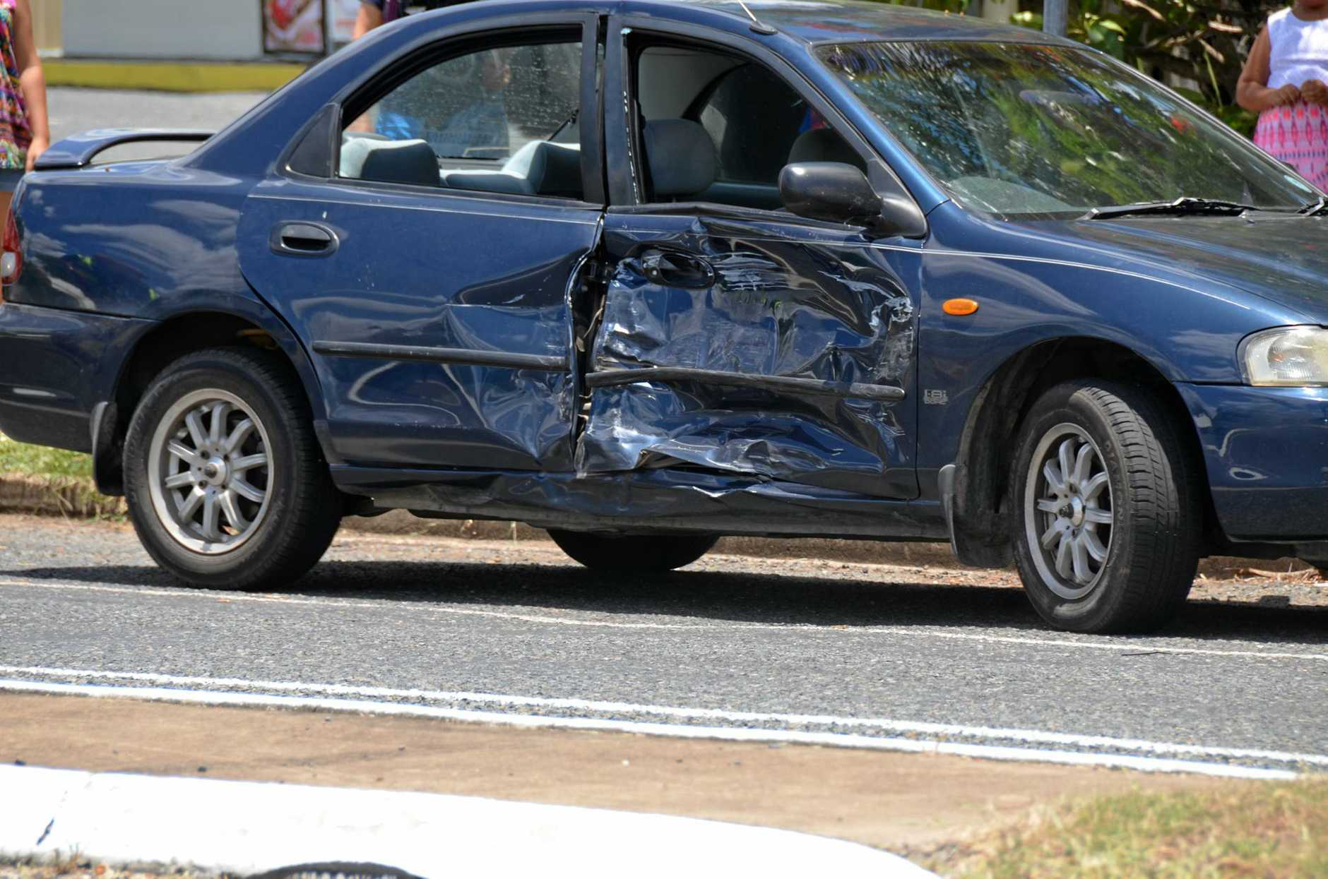 HEAVY IMPACT: The 62 year old female driver was taken to Gayndah Hospital for observation.