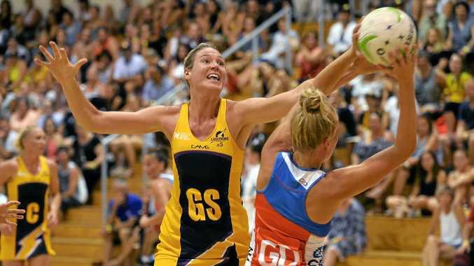 NETBALL: Sunshine Coast Lighting v Swifts. Lightning GS, Caitlyn Bassett in defence.