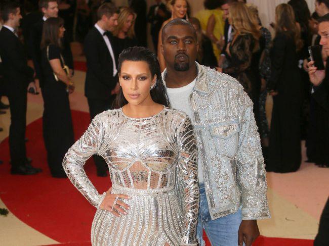 Kim Kardashian and husband Kanye West.