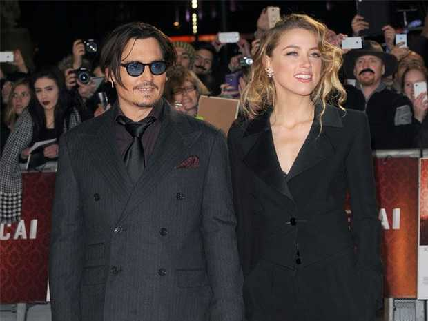 Johnny Depp and Amber Heard pictured during their relationship.
