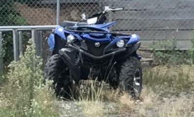 The quad bike involved in a  fatal crash near Tiaro on Friday night.
