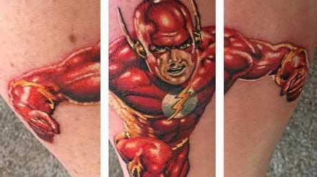 Andrew Robertson's Flash tattoo.