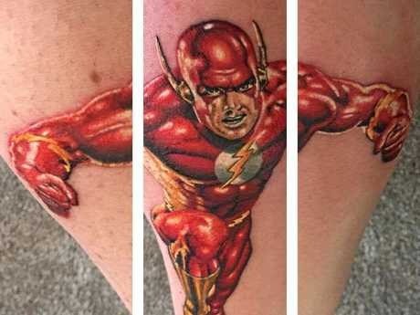 Andrew Robertson's Flash tattoo.